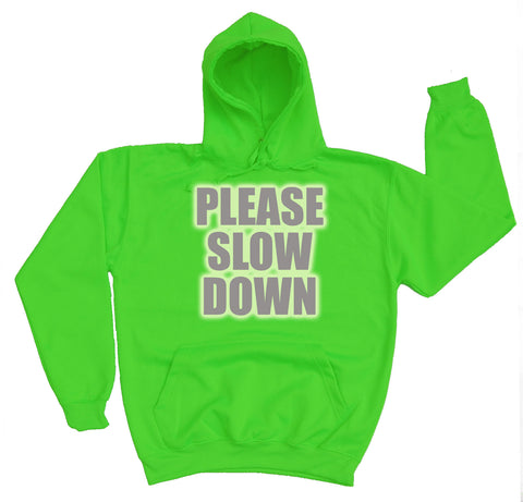 Please Slow Down Reflective Horse Riders Hoodie - WHAMHEAD CLOTHING - T Shirts & Hoodies