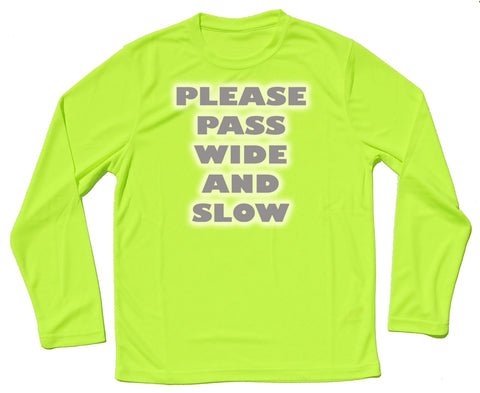 Please Pass Wide And Slow Reflective Quick Dry Horse Riders Long Sleeve T Shirt