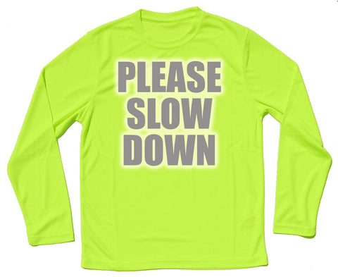 Please Slow Down Reflective Quick Dry Horse Riders Long Sleeve T Shirt