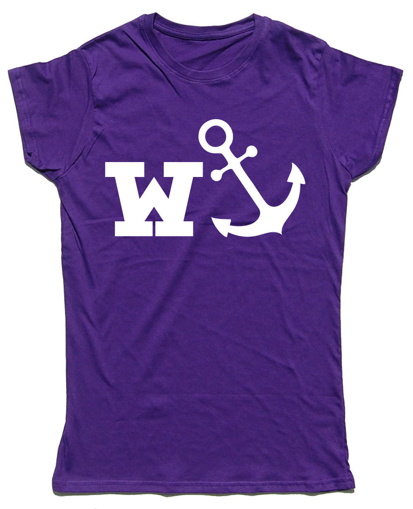 W-Anchor Fitted Cotton Funny T Shirt - THREADS UP CLOTHING - T Shirts & Hoodies