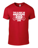 Awesome Dad Cotton Funny T Shirt - WHAMHEAD CLOTHING - T Shirts & Hoodies