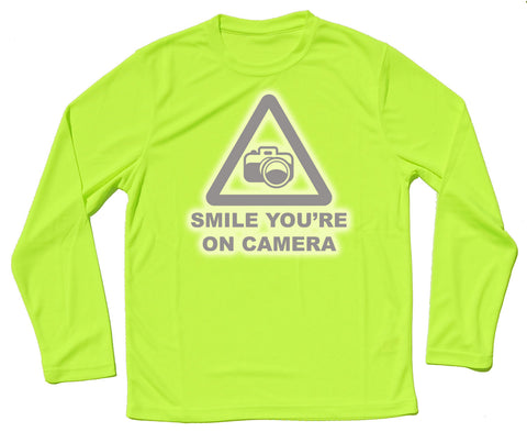 Smile You're On Camera Reflective Quick Dry Horse Riders Long Sleeve T Shirt - THREADS UP CLOTHING - T Shirts & Hoodies
