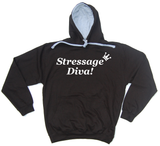 Stressage Diva Horse Riders Varsity Hoodie - THREADS UP CLOTHING - T Shirts & Hoodies