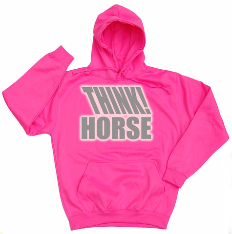 Think Horse Reflective Horse Riders Hoodie - WHAMHEAD CLOTHING - T Shirts & Hoodies