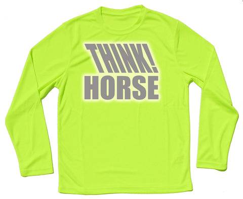 Think Horse Reflective Quick Dry Horse Riders Long Sleeve T Shirt