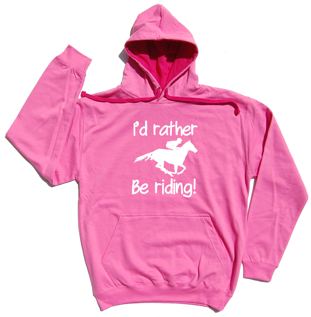 I'd Rather Be Riding Horse Riders Varsity Hoodie - THREADS UP CLOTHING - T Shirts & Hoodies
