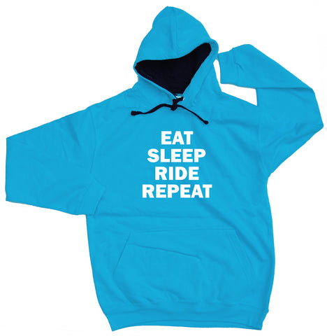 Eat Sleep Ride Repeat Horse Riders Varsity Hoodie - THREADS UP CLOTHING - T Shirts & Hoodies