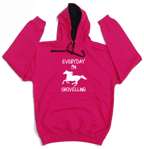 Everyday I'm Shovelling Horse Riders Varsity Hoodie - THREADS UP CLOTHING - T Shirts & Hoodies