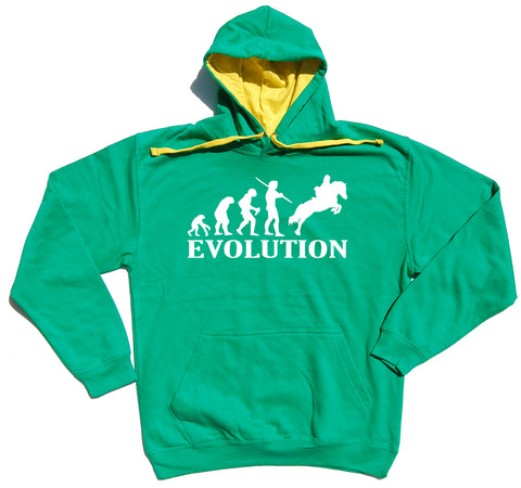 Evolution Horse Riders Varsity Hoodie - THREADS UP CLOTHING - T Shirts & Hoodies