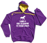 I Wanted A Stable Relationship Horse Riders Varsity Hoodie - THREADS UP CLOTHING - T Shirts & Hoodies
