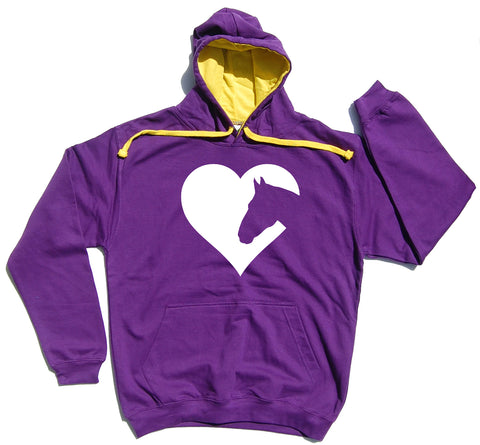 Heart Horse - Horse Riders Varsity Hoodie - THREADS UP CLOTHING - T Shirts & Hoodies