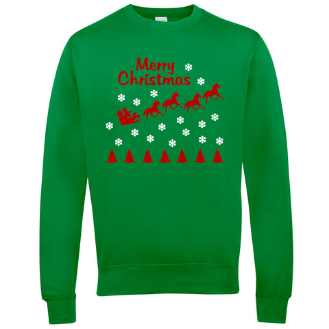 Merry Christmas Horse Riders Christmas Jumper - WHAMHEAD CLOTHING - T Shirts & Hoodies