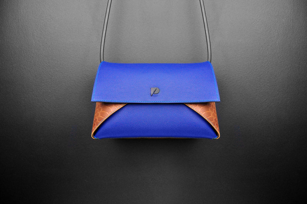 PRISMA handbag Blue Croco
