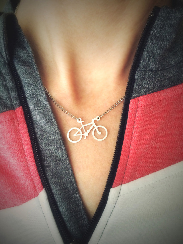 Mountain Bike Necklace.