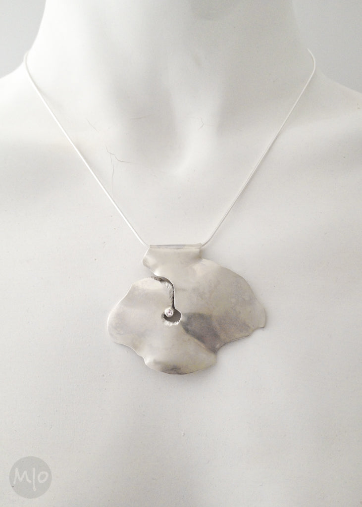 Bigs Stone No. 1 Pendant in Sterling Silver by Melissa Osgood