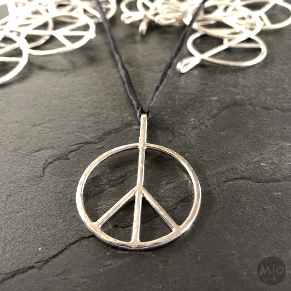 Peace Pendants at Melissa Osgood Studio