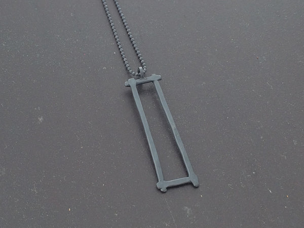 Compartment Rectangle Pendant, Oxidized - Melissa Osgood Studio Store - 3
