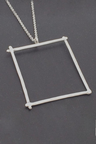 Compartment Large Square Pendant, Polished - Melissa Osgood Studio Store - 1