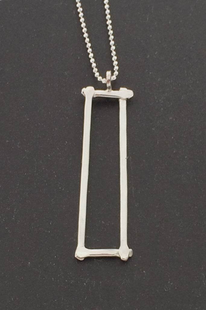 Compartment Rectangle Pendant, Polished - Melissa Osgood Studio Store - 1