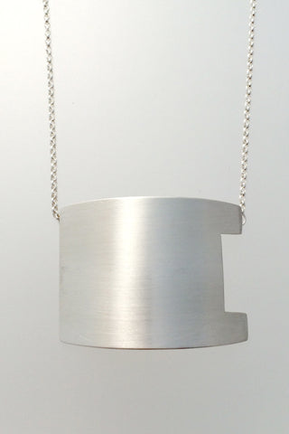 One Person Observatory Small Neckpiece, Brushed - Melissa Osgood Studio Store - 1