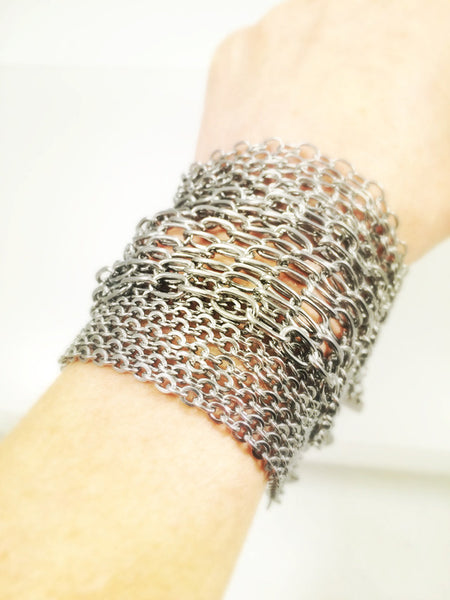 Stainless Steel Chain Bracelet, Medium - Melissa Osgood Studio Store - 2