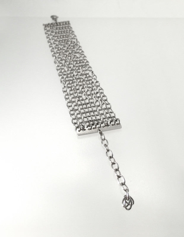 Stainless Steel Chain Bracelet, Medium - Melissa Osgood Studio Store - 1