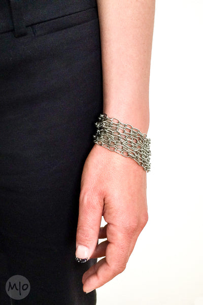 Stainless Steel Chain Bracelet in large links - Melissa Osgood Studio Store - 1