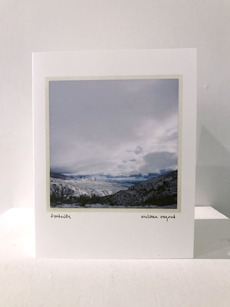 Art Cards, Winter Foothills A Peek