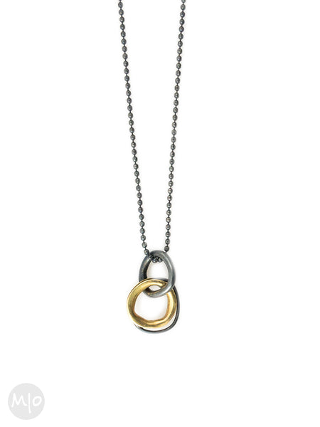 On Track Small Pendant, 18K Gold