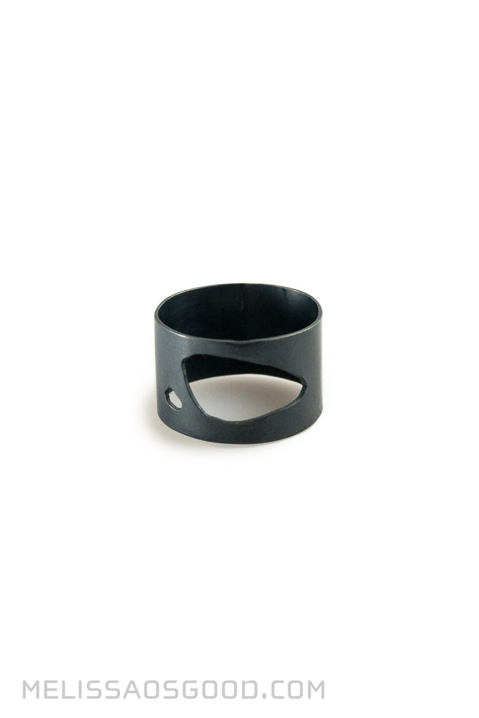 Pebble Ring Oxidized Silver, LOW Profile