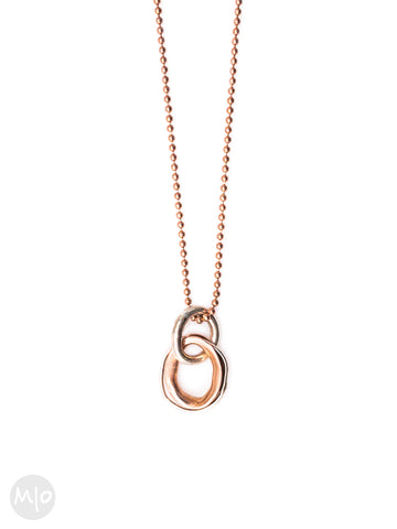 On Track Pendant in Rose Gold By Melissa Osgood Studio