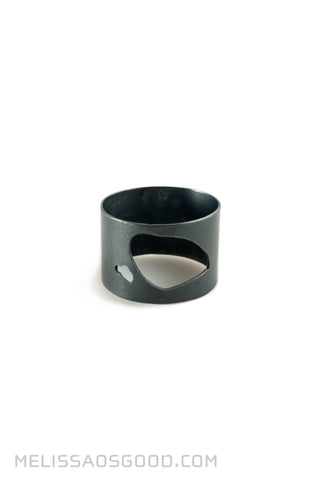Pebble Ring Oxidized Silver, MEDIUM Profile