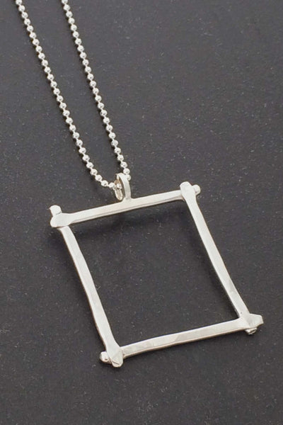 Compartment Square Pendant, Polished - Melissa Osgood Studio Store - 1