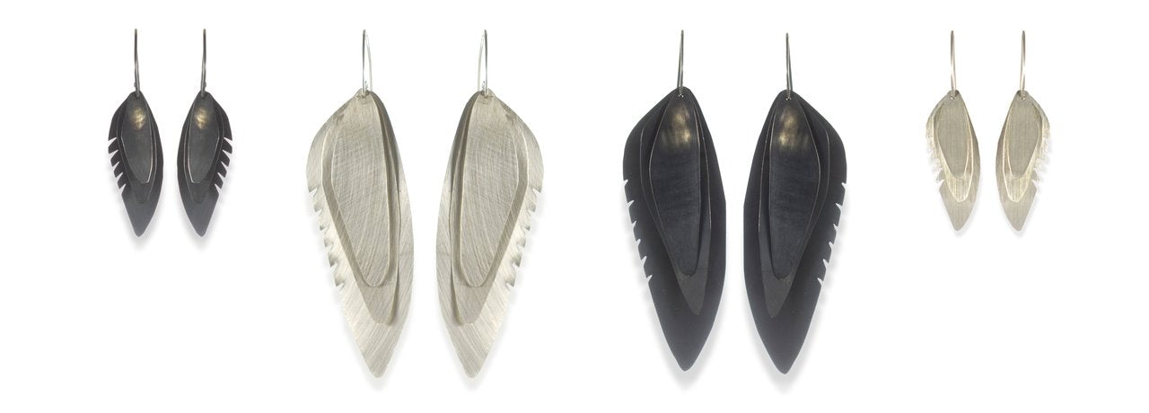 Wing Feather Earrings Melissa Osgood Studio