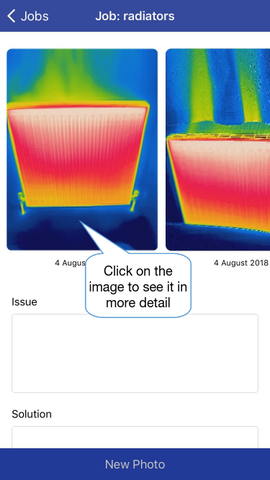 Thermafy user guide, how to see more details