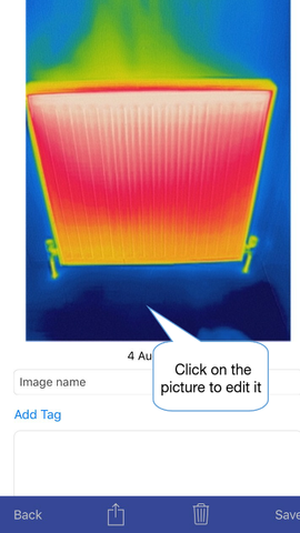 Thermafy user guide, how to edit photo when in job