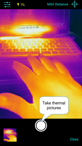 Thermafy user guide, how to take photo