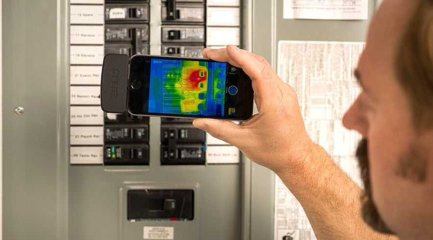 Therma-Mec are thermal imaging cameras that fit onto your smartphone