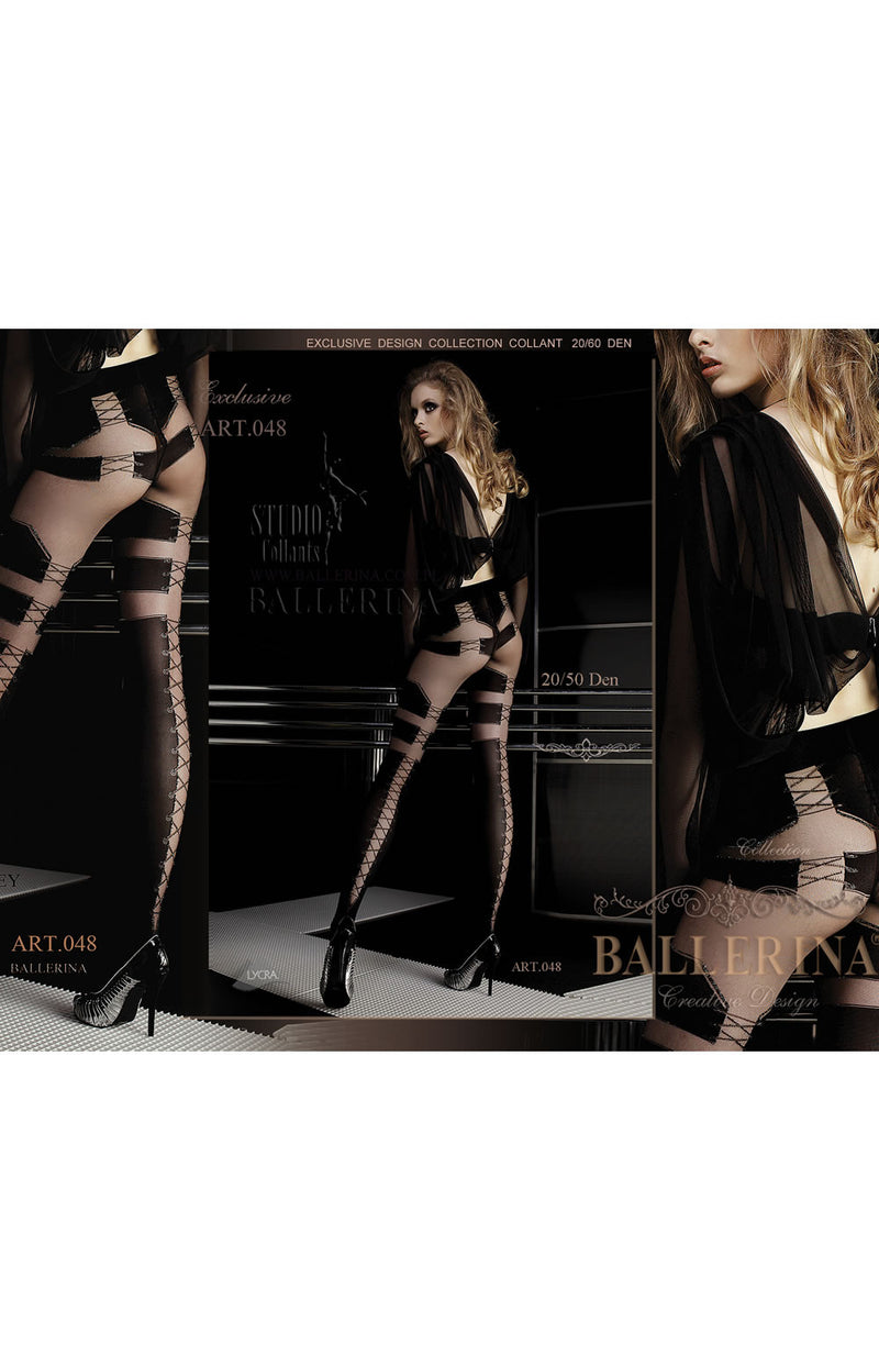 Ballerina Ballerina 048 Tights Nero (Black) / Viso