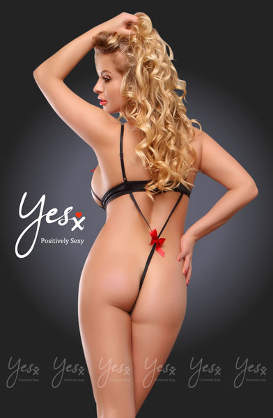 YesX Yesx YX204 Teddy Red/Black  Red/BlackS/M