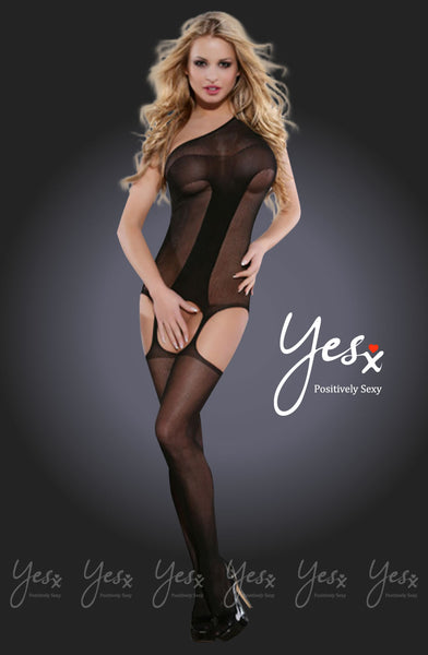 YesX Yesx YX406 Bodystocking Black  BlackS/M