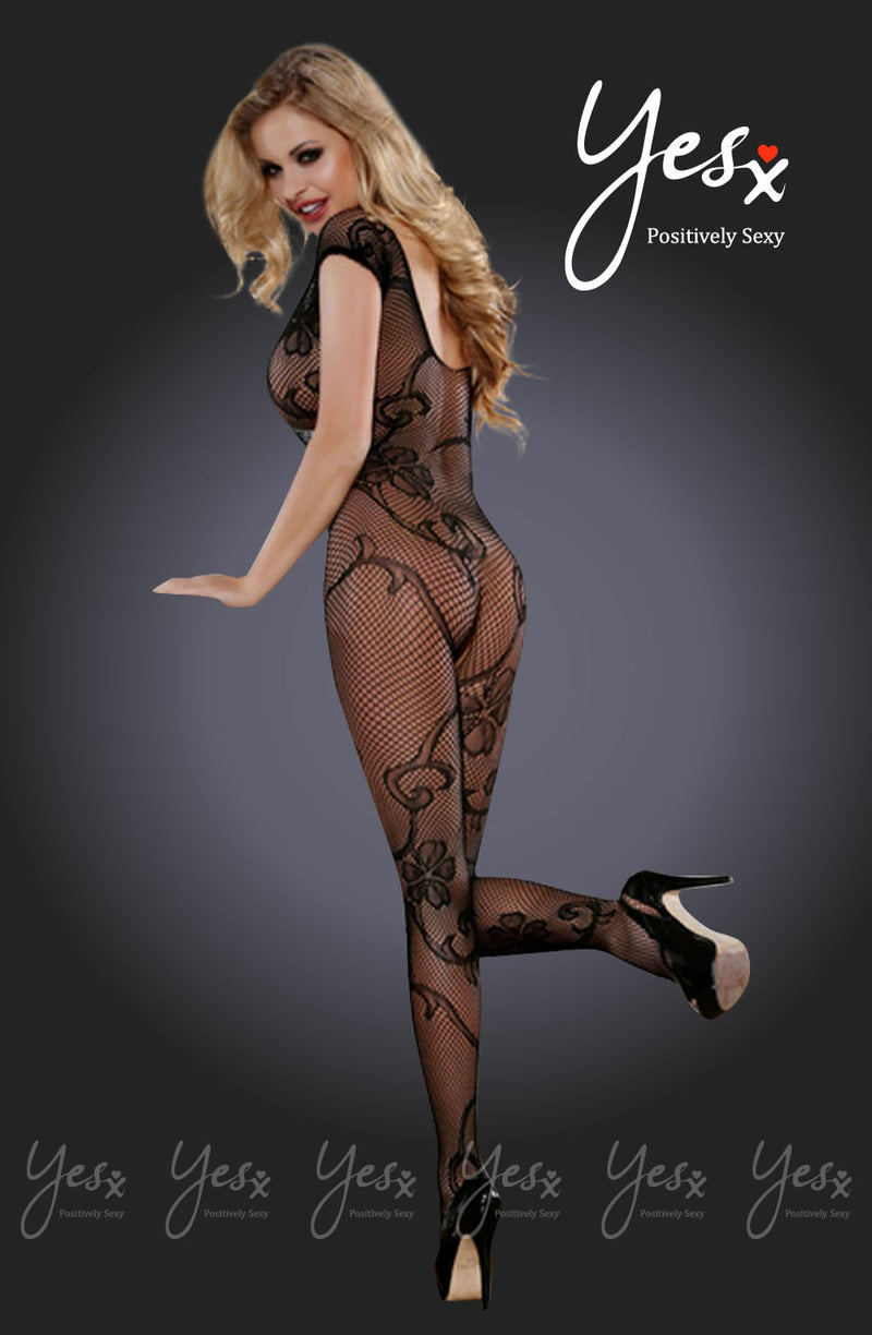 YesX Yesx YX407 Bodystocking Black BlackS/M