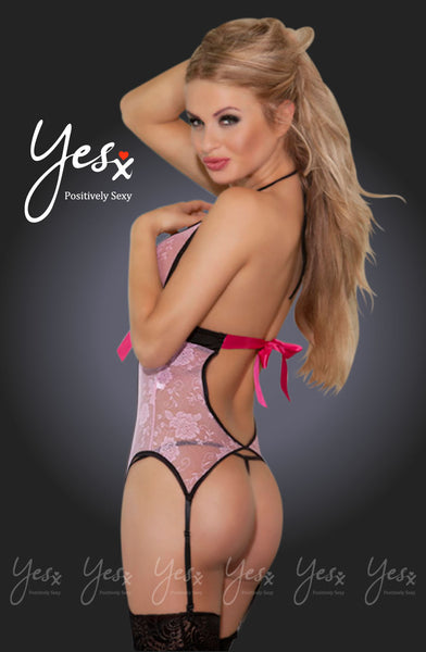 YesX Yesx YX909 Corset Pink/Rose  Pink/RoseS/M