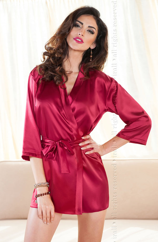 Aria Dressing Gown Burgundy