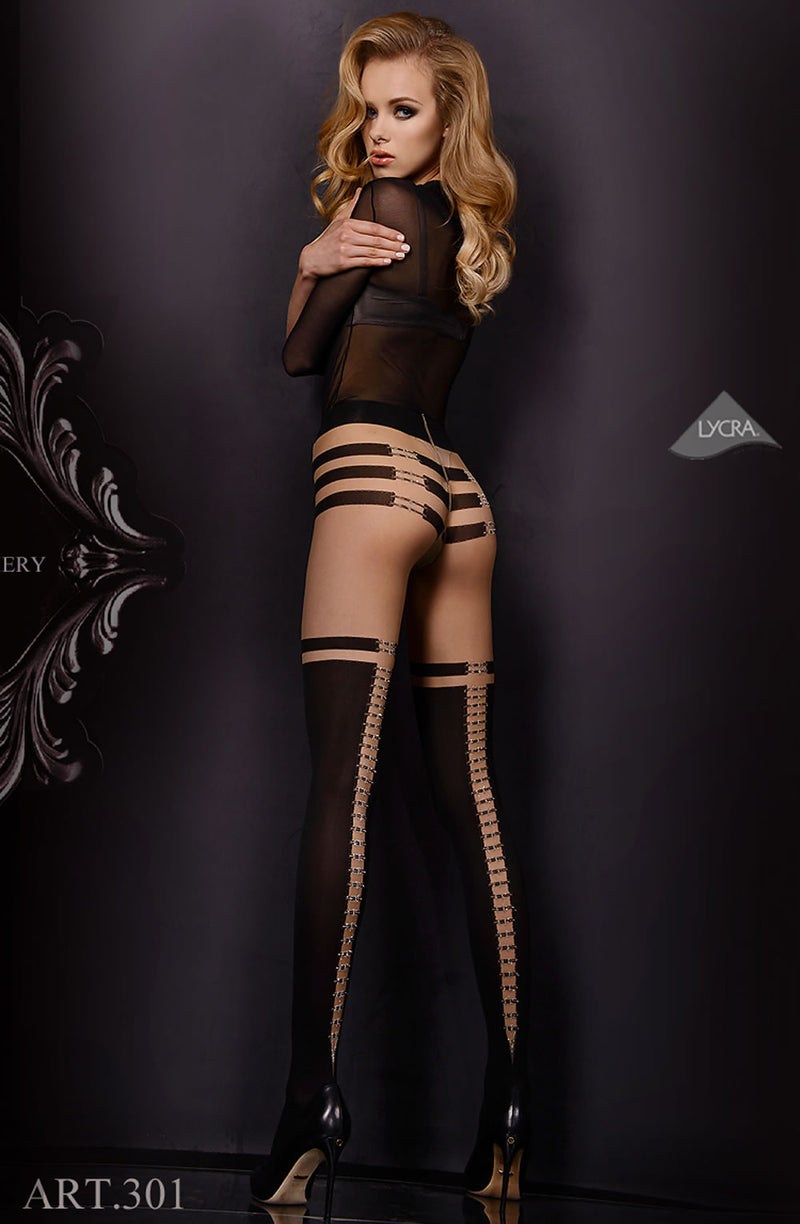 Ballerina Ballerina 301 Tights Nero (Black)/Skin B