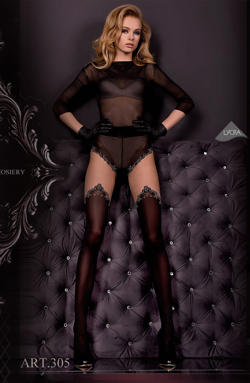 Ballerina Ballerina 305 Tights Nero(Black)/Skin Bl