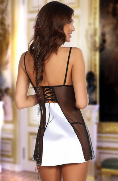 Beauty Night Beauty Night Michele Chemise White Wh