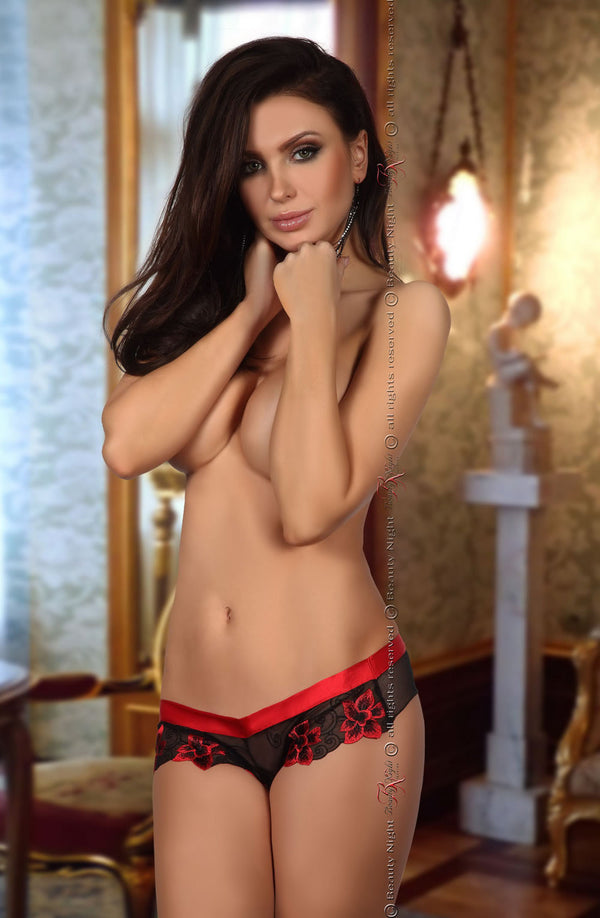 Beauty Night Beauty Night Glamour Panty  Black/Red