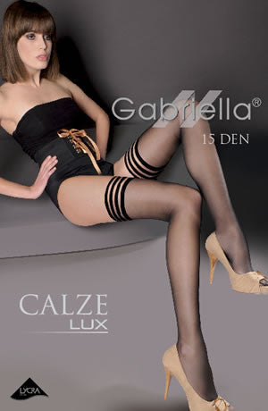 Gabriella Calze Lux Hold Ups Various3/4 (M/L)
