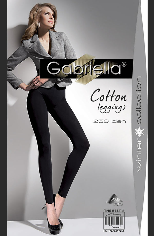 Gabriella Cotton Leggings Nero (Black)3/4 (M/L)